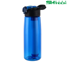 Outdoor Portable Hiking Survival Gear Travel Kit Emergency Purifier Drink Water Filter Bottle with Straw