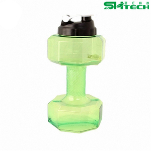 Eco-friendly Dumbbell Water Jug Sports Fitness Equipment Shape Kettle Juice Bottle Exercise Water Bottle Cup SH-N0043